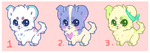 [OPEN] Chibi Puppies Set 1 by iceflakesadopts