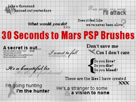 30 Seconds to Mars Brushes by flamexsniper