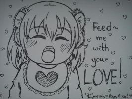 W.I.P.: Feed me with your love! :. by LoveEmerald