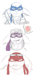 TMNT Movie Turtle Sketches by RaphaelsLover