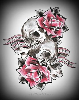 CRY LATER tattoo design by MWeiss-Art