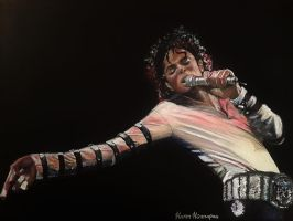 Michael Jackson painting by xKurrMeowx