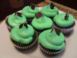 Mint Chocolate Cupcakes by StarDragon77