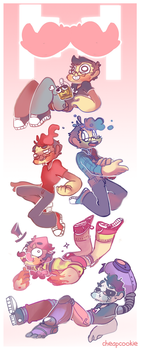 All the markiplier ! + speedpaint by Cheapcookie