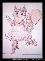 Ballerina Squirrel by littleitchysister
