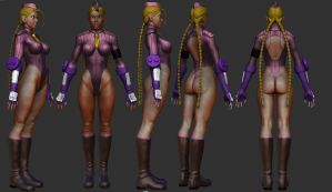 cammy zbrush text by SergioGM