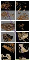 3D Modeling: Wagon by DranixParemoon
