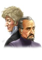 The 3rd Doctor and the Master by MistressAinley