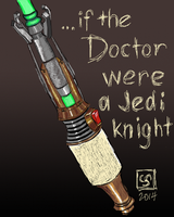 If the Doctor were a Jedi Knight - DSC by The-Tinidril