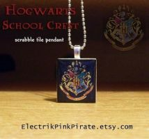 Hogwarts Scrabble pendant by ElectrikPinkPirate