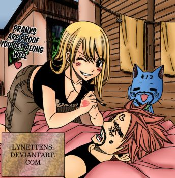 Natsu and Lucy FT 280 by LynetteNS