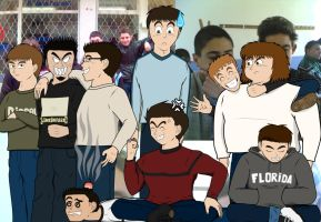 Me and my friends_Anime Style by KyuubifiedHokage