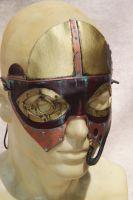 New Steampunk Deep Dea Diver Mask - side detail by SonsOfPlunderLeather