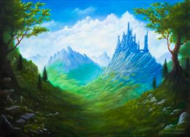 Castle in the Mountains by Elucidator