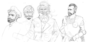 Some quick character sketches by CotyP