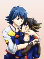 Bruno and Yusei by Kuwano73