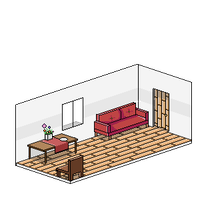 Isometric room - 1rst Try by 20BoxesPotatoSalad
