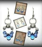 Blue quartz earrings by marsvar