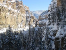 Glenwood Canyon View From Hanging Lake. by Beavis-Felidea