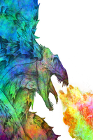 Color dragon by Pancakemind