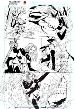 lady Death page 3 ink preview by FrancescoGerbino