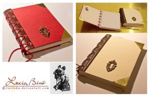 steampunk notebooks by vucinka