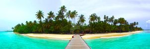 Meerufenfushi Panorama by dancpicturez