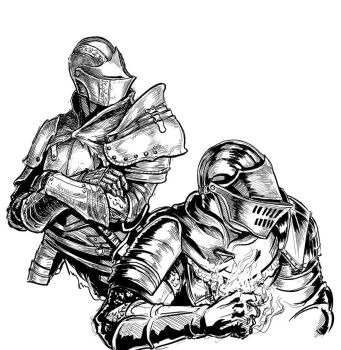 Dark Souls 3: Knights sketch by MenasLG