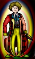 The Sixth Doctor: Colin Baker by ApocalypseCartoons
