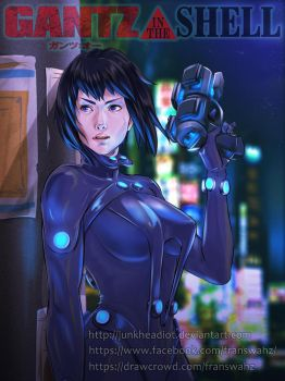Gantz in the Shell by junkheadiot