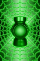 Spiderweb Green Lantern power battery background 2 by KalEl7