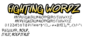 Fighting Wordz font by andehpinkard
