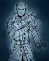 Fallout 3 - Colonel Autumn by psycrowe