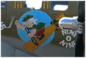 B17G Flying Fortress Nose Art by shawn529