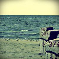 beach chair and friends I by Aestchen