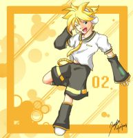 Orange Burst VCLD Kagamine Len by RagingChaosGod