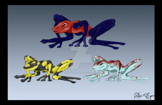 Poison Dart Frogs by Xan-Salstone