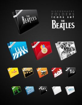 The beatles folder icons by iconhive