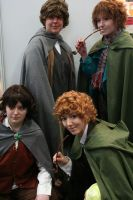 4 Hobbits by sawyerlein