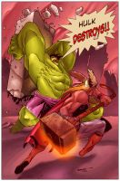 Hulk vs Thor by judson8