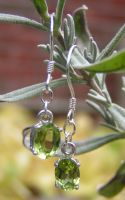 Peridot Dangle Earrings by Izile