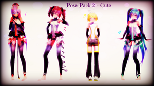 MMD Pose Pack 2 - Cute by EmD-Neko-Chan