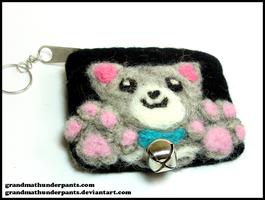 Felted Kitty Pouch by GrandmaThunderpants