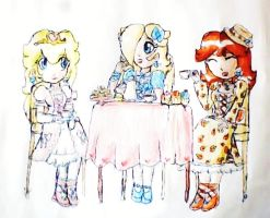 tea party by ninpeachlover