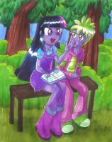 MLP: A Read in the Park by hopelessromantic721