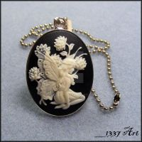 Fairy Cameo Necklace by 1337-Art