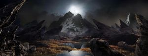 Moon Light Fantasy Landscape matte updated by rich35211