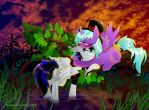 Blaze and Starling Snuggling by DayDreamerPony