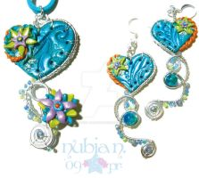 Whimsical Mermaid set by colourful-blossom