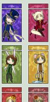 APH - Wonderland Chibis by Sea-Dragon